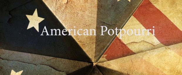 Retroflagge USA mit American Potpourri Schrift